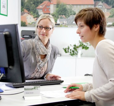 Beratung im Kundenbüro